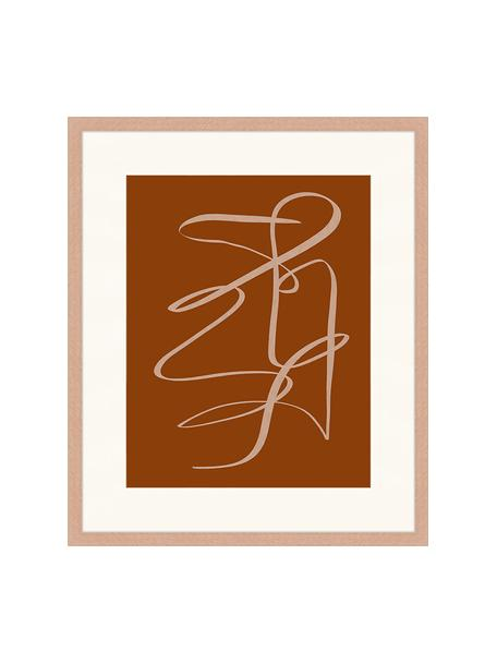 Stampa digitale incorniciata Terracota Drawing, Immagine: stampa digitale su carta,, Cornice: legno, verniciato, Marrone, beige scuro, Larg. 53 x Alt. 63 cm