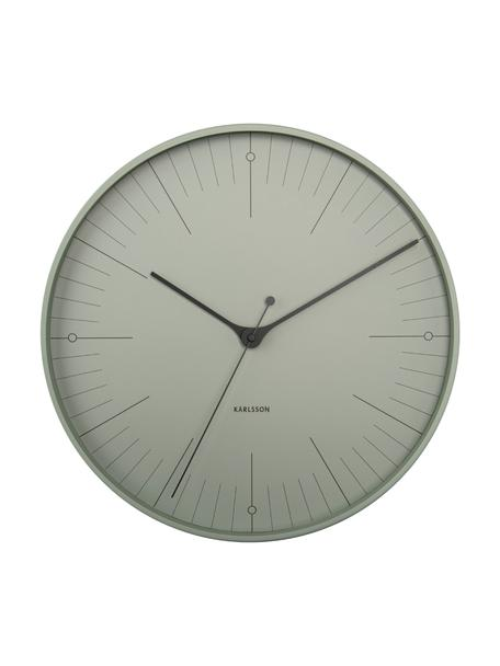 Wanduhr Index, Metall, beschichtet, Schwarz, Grün, Ø 40 cm