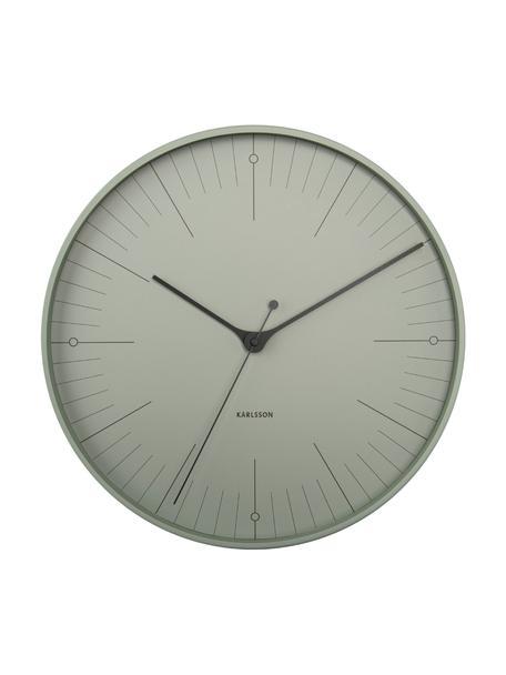 Zegar ścienny Index, Metal powlekany, Czarny, zielony, Ø 40 cm