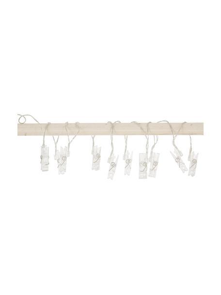 LED-Lichterkette Clippy, 135 cm, 10 Lampions, Kunststoff, Transparent, L 135 cm