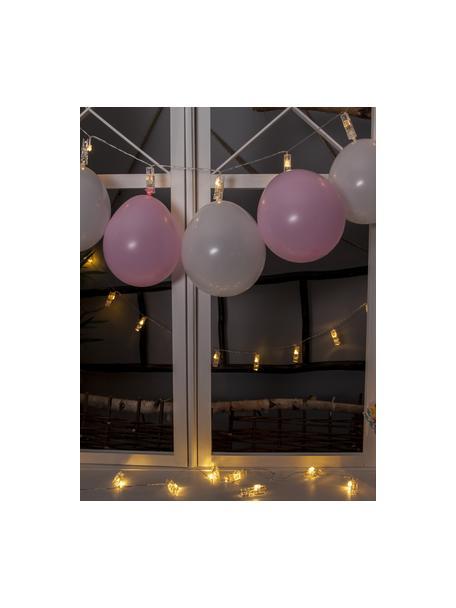 LED lichtslinger Clippy, 135 cm, 10 lampions, Kunststof, Transparant, L 135 cm