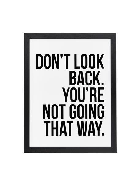 Lámina decorativa Don´t Look Back, Negro, blanco, An 33 x Al 43 cm
