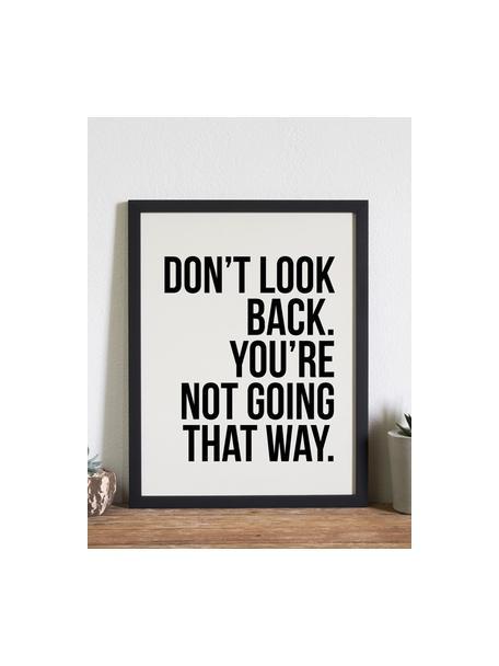 Impresión digital enmarcada Don´t Look Back, Negro, blanco, An 33 x Al 43 cm