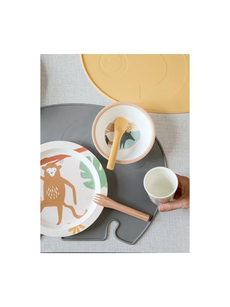 Set de cucharas Monu, 3pzas., Melamina, Amarillo, tonos rosas, L 12 cm