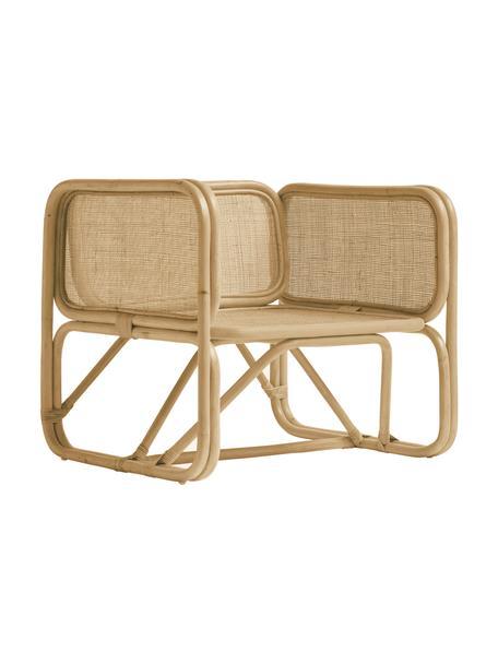 Fotel wypoczynkowy z rattanu Puglia, Rattan, Brązowy, S 70 x G 70 cm