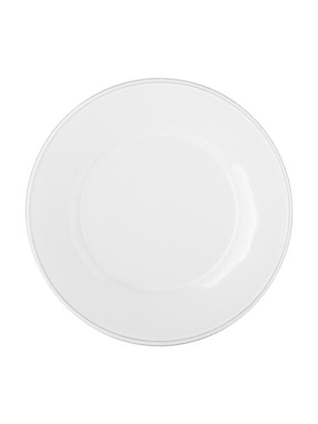 Piattino da dessert bianco Constance 2 pz, Gres, Bianco, Ø 24 cm