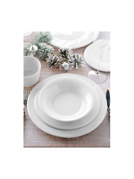 Ontbijtbord Constance in wit, 2 stuks, Keramiek, Wit, Ø 24 cm