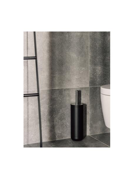 Toiletborstel Matty van kunststof met metalen handvat, Metaal, kunststof, Zwart, Ø 10 cm