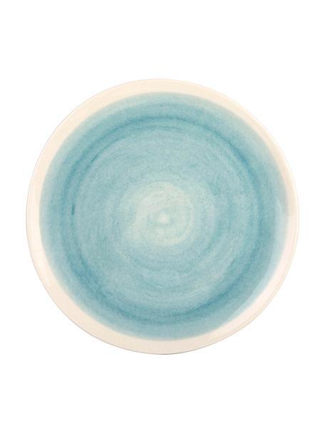 Handgemaakte dinerborden Pure mat/glanzend met kleurverloop, 6 stuks, Keramiek, Blauw, wit, Ø 26 cm