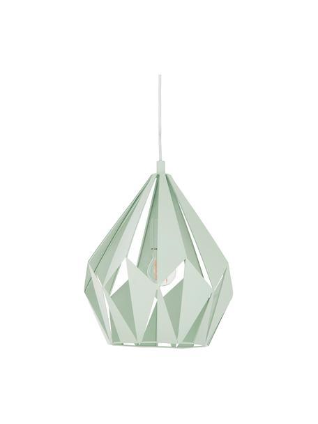 Scandi hanglamp Carlton, Lichtgroen, Ø 31  x H 40 cm
