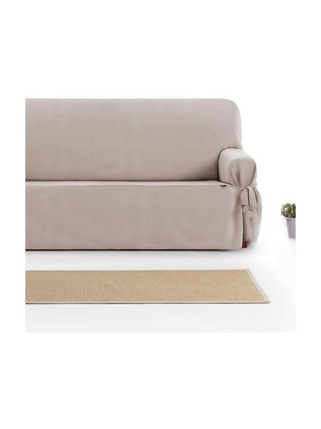 Funda de sofá Levante, 65%algodón, 35%poliéster, Gris verdoso, 2 plazas (160 x 110 cm)