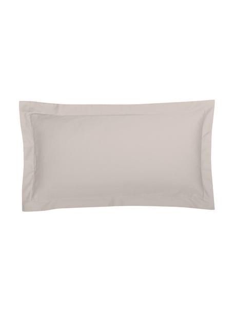 Satin-Kissenbezüge Premium aus Bio-Baumwolle in Taupe mit Stehsaum, 2 Stück, Webart: Satin Fadendichte 400 TC,, Taupe, 40 x 80 cm