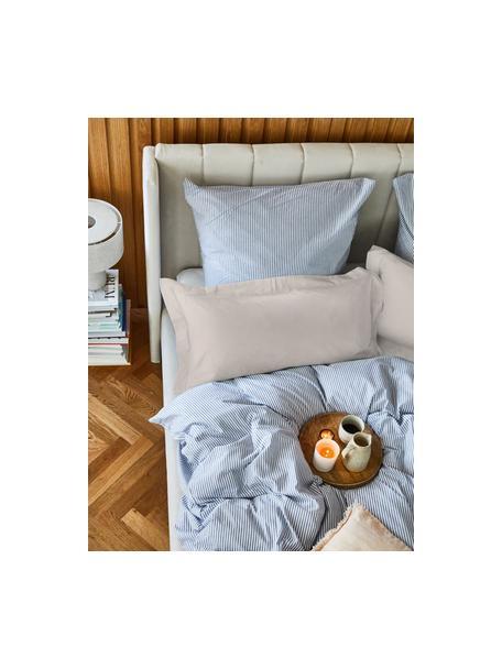 Satin-Kopfkissenbezüge Premium aus Bio-Baumwolle in Taupe mit Stehsaum, 2 Stück, Webart: Satin Fadendichte 400 TC,, Taupe, 40 x 80 cm