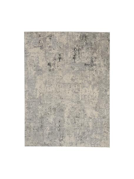 Alfombra texturizada Rustic, Parte superior: 51%polipropileno, 49%po, Reverso: látex, Gris, beige, An 120 x L 180 cm (Tamaño S)
