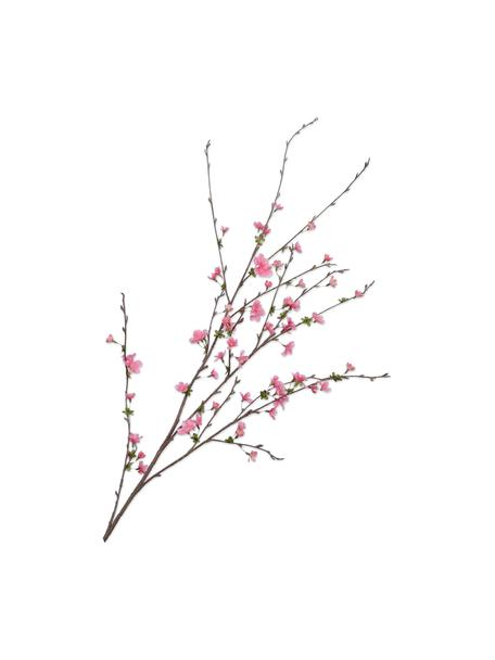 Ramo di fiori di ciliegio artificiale rosa, Materiale sintetico, filo metallico, Rosa, Lung. 97 cm