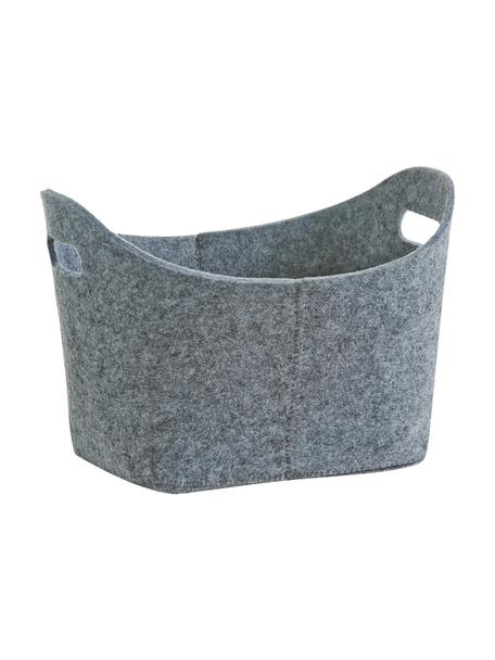 Aufbewahrungskorb Kiri, 100% Polyester (Filz), Grau, 32 x 21 cm