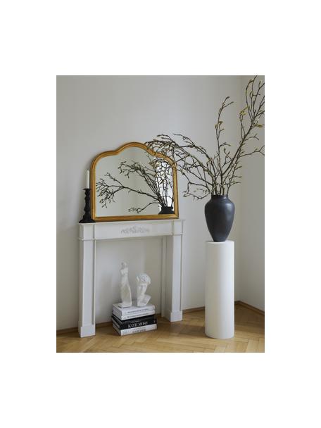 Specchio da parete barocco Muriel, Struttura: legno massiccio ricoperto, Superficie dello specchio: vetro a specchio, Retro: metallo, pannello di fibr, Oro, Larg. 90 x Alt. 77 cm