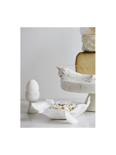 Portauovo marmorizzato Isop, Marmo, Bianco, Ø 5 x Alt. 7 cm