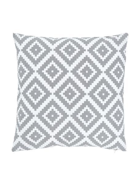 Federa arredo grigio chiaro/bianco Miami, 100% cotone, Grigio, Larg. 45 x Lung. 45 cm