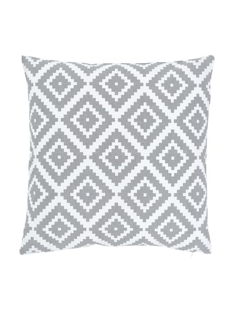 Kissenhülle Miami mit grafischem Muster, 100% Baumwolle, Grau, 45 x 45 cm