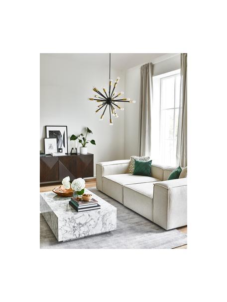 Lámpara de techo grande Spike, Pantalla: metal recubierto, Anclaje: metal recubierto, Cable: cubierto en tela, Negro, dorado, Ø 90 cm