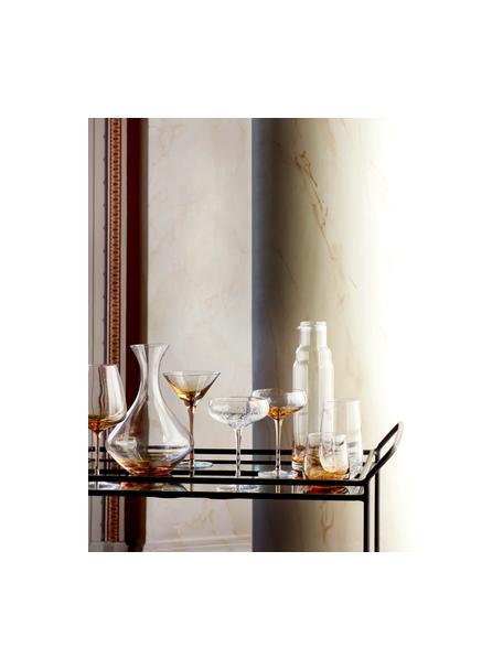 Copas pompadour de champán de vidrio soplado artesanalmente con burbujas Bubble, 4uds., Vidrio, Transparente, Ø 11 x Al 16 cm