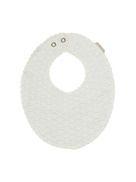 Bavaglino in cotone organico Protect, 100% cotone organico, Grigio, bianco, Larg. 20 x Lung. 23 cm