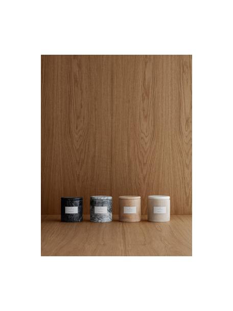 Geurkaars Frable (vijgen), Houder: marmer, Bruin, Ø 10 x H 11 cm