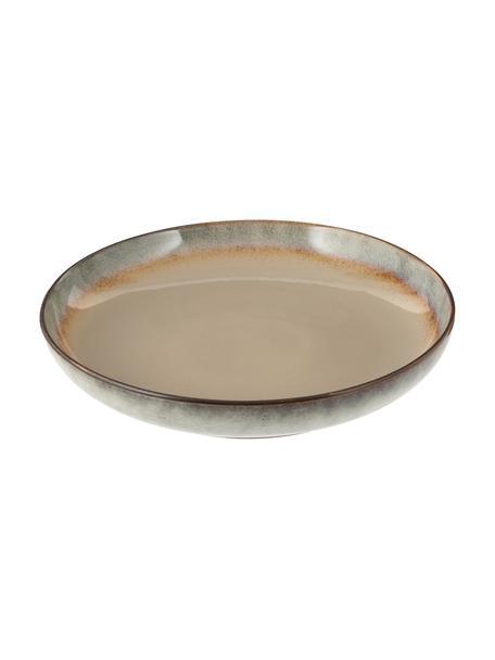 Handgemaakte serveerschaal Nomimono Ø 32 cm in beige/grijs, Keramiek, Greige, Ø 32 x H 6 cm
