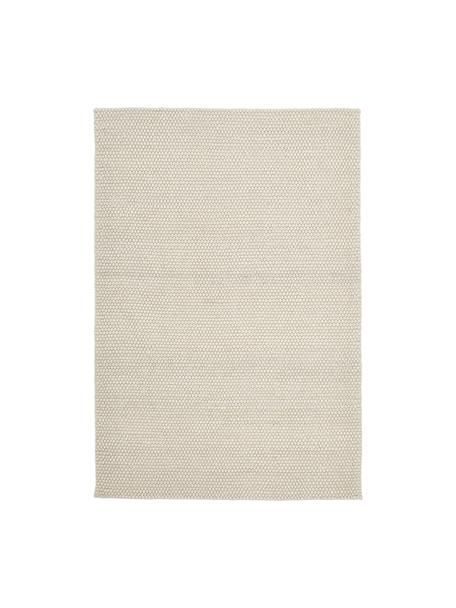 Ręcznie szyty dywan z wełny Lovisa, Odcienie kości słoniowej, S 80 x D 150 cm (Rozmiar XS)
