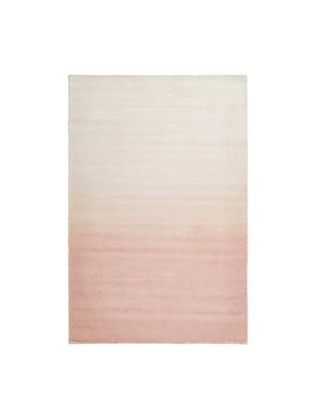 Handgewebter Viskoseteppich Alana mit Farbverlauf, 100% Viskose, Rosa, Beige, B 120 x L 180 cm (Grösse S)