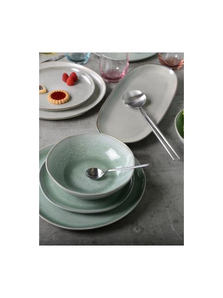 Komplet sztućców sałatkowych ze stali szlachetnej Kioto, 2 elem., Stal szlachetna, Odcienie srebrnego, D 30 cm