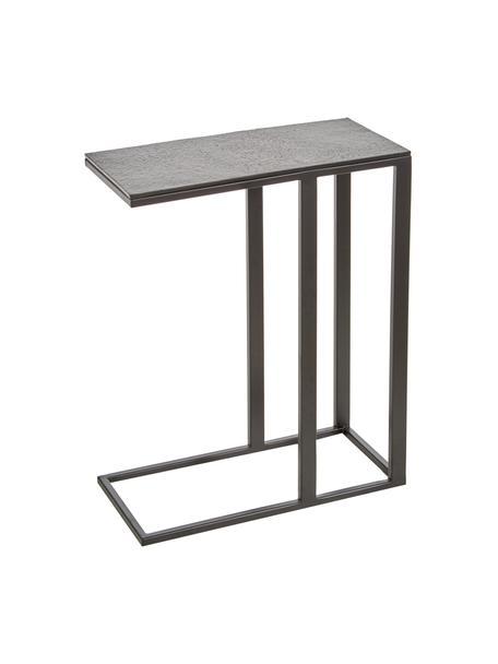 Mesa auxiliar Edge, estilo industrial, Tablero: aluminio recubierto, Estructura: metal recubierto en polvo, Tablero: negro Estructura: negro mate, An 43 x Al 52 cm