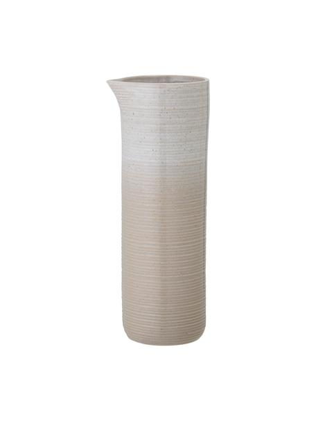 Krug Taupe mit handgefertigter Sprenkelglasur, 1.1 L, Steingut, Grau, Beige, Ø 9 x H 25 cm