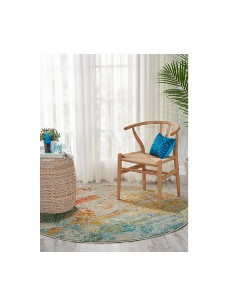 Tappeto rotondo di design colorato Celestial, Retro: juta, Multicolore, Ø 160 cm (taglia L)