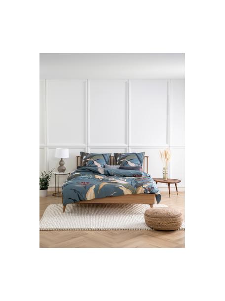 Cama de madera con cabecero Wild, Tablero de fibras de densidad media(MDF) con chapado de madera de roble, Roble, 140 x 190 cm