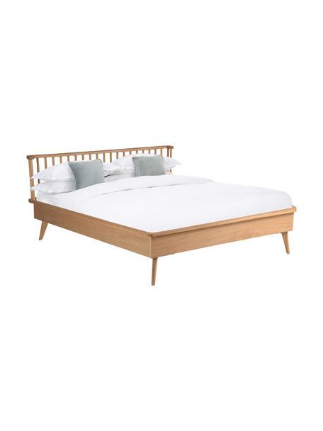 Łóżko drewniane Wild, Płyta pilśniowa (MDF), fornir z drewna dębowego, Drewno dębowe, S 140 x D 190 cm