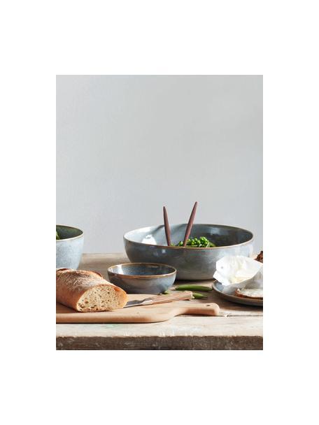 Cuencos de gres Saisons, 6uds., Gres, Azul, Ø 15 x Al 5 cm