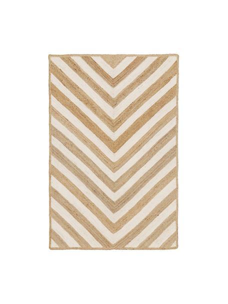 Handgefertigter Jute-Teppich Eckes, 100% Jute, Beige, B 120 x L 180 cm (Größe S)