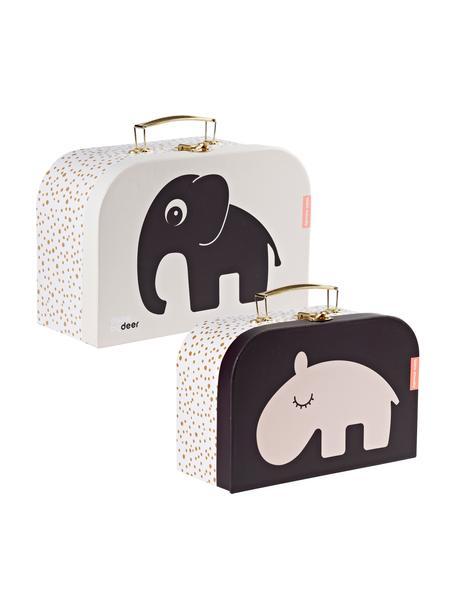Komplet walizek dla dzieci Deer Friends, 2 elem., Blady różowy, Komplet z różnymi rozmiarami