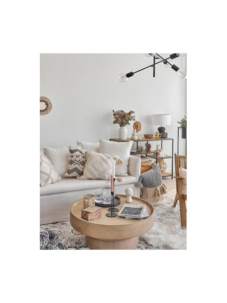Poszewka na poduszkę z chwostami Karina, 100% bawełna, Beżowy, S 45 x D 45 cm