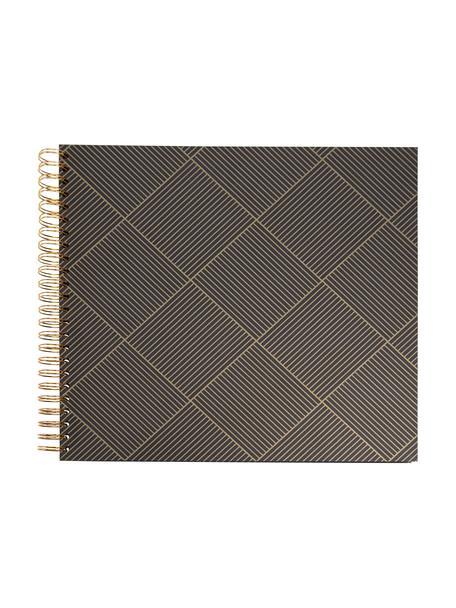 Album na zdjęcia Picture, Odcienie złotego, ciemnyszary, S 25 x W 22 cm