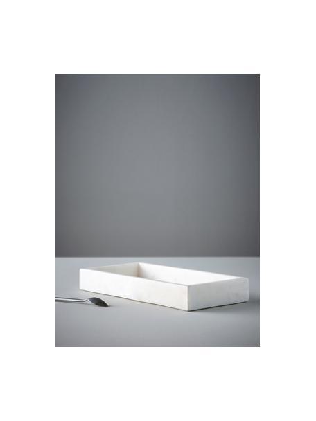 Decoratief dienblad Bifrost, Gepolijst marmer, Wit, 30 x 4 cm