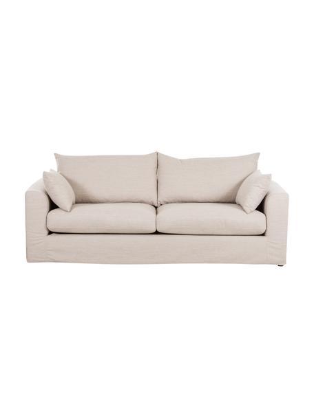 Sofa Zach (3-Sitzer) in Beige, Bezug: Polypropylen Der hochwert, Webstoff Beige, B 231 x T 90 cm