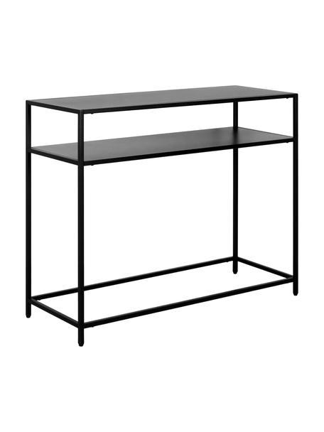 Consola de metal Newton, Metal con pintura en polvo, Negro, An 100 x Al 79 cm