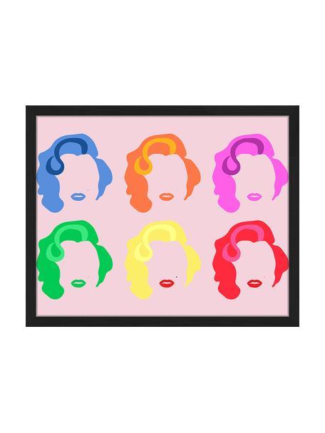 Impresión digital enmarcada Marilyn Pop Art, Multicolor, An 53 x Al 43 cm