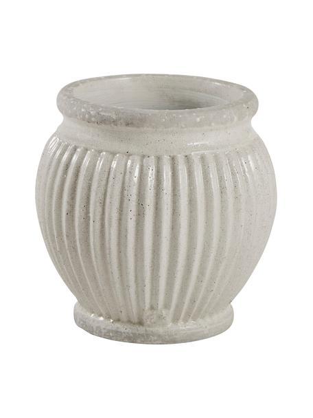 Ręcznie wykonana osłonka na doniczkę z ceramiki Catinia, Ceramika, Beżowy, Ø 14 x W 14 cm
