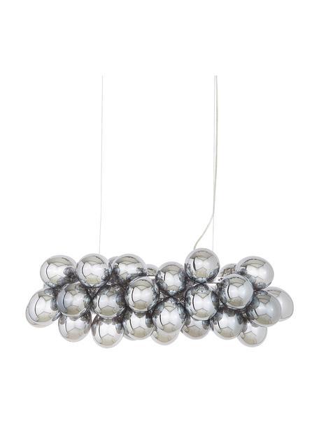 Grote Hanglamp met glazen bollen Gross Bar, Chroomkleurig, 80 x 36 cm