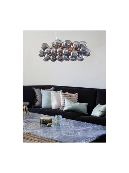 Lampada a sospensione con sfere di vetro Gross Bar, Baldacchino: nichel cromato, Cromo, Larg. 80 x Alt. 36 cm