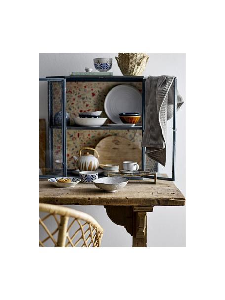 Handgemaakte keramische theepot Camellia met bamboe handgreep, 800 ml, Pot: keramiek, Zeef: edelstaal, Wit, terracottakleurig, 800 ml